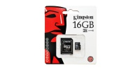 16 GB Micro SD memory card Kingston + SD Adapter, CLASS 10