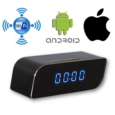 WiFi camera in alarm clock