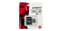 KINGSTON Micro SDHC 16GB Class 4 + SD adapter