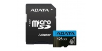 128 GB Micro SD memory card ADATA + SD Adapter, CLASS 10