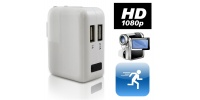 USB Wall Charger Hidden Camera 1920x1080 w/ Motion Detection